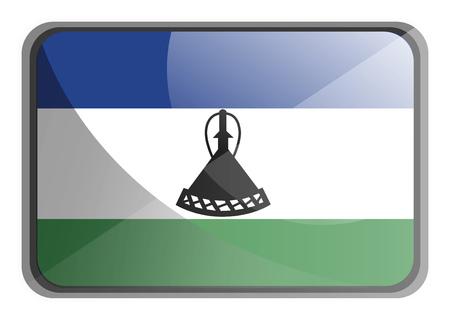 Vector illustration of Lesotho flag on white background.