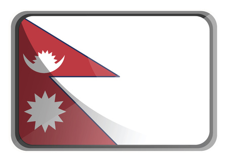 Vector illustration of Nepal flag on white background. Фото со стока - 120884002
