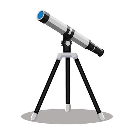 Telescope vector illustration on white background