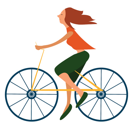 A blue lagoon colored bicycle, vector, color drawing or illustration. Illustration
