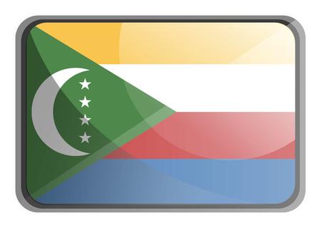 Vector illustration of Comoros flag on white background.