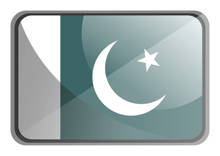 Vector illustration of Pakistan flag on white background. 写真素材 - 123448791