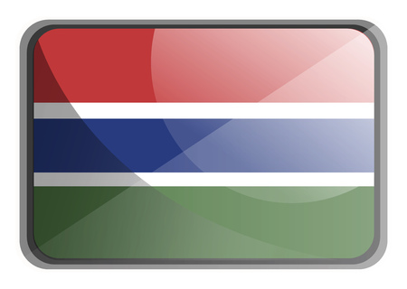 Vector illustration of Gambia flag on white background.