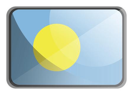 Vector illustration of Palau flag on white background.