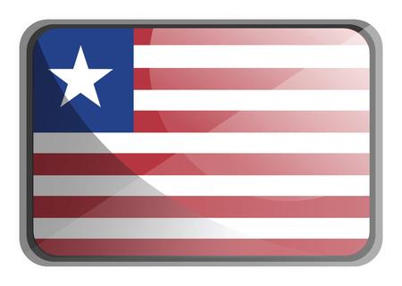 Vector illustration of Liberia flag on white background.