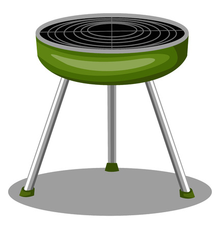 A Hot steamer with stand for keeping the food hot in green color vector color drawing or illustration. Ilustrace