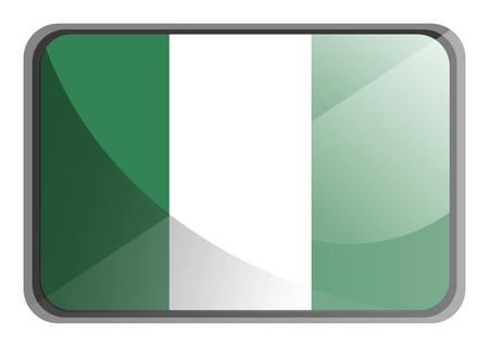 Vector illustration of Nigeria flag on white background.