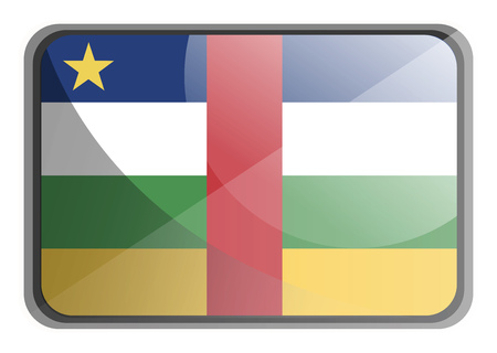 Vector illustration of Central African Republic flag on white background.