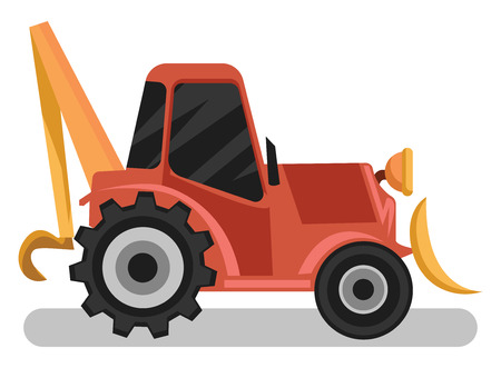 Orange loader vector illustration on white background. Ilustrace