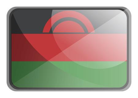 Vector illustration of Malawi flag on white background.