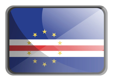 Vector illustration of Cape Verde flag on white background. Vektoros illusztráció
