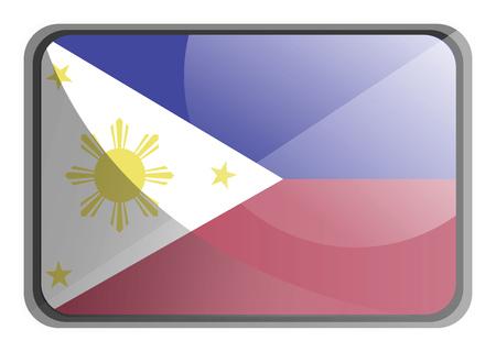 Vector illustration of Philippines flag on white background. 向量圖像