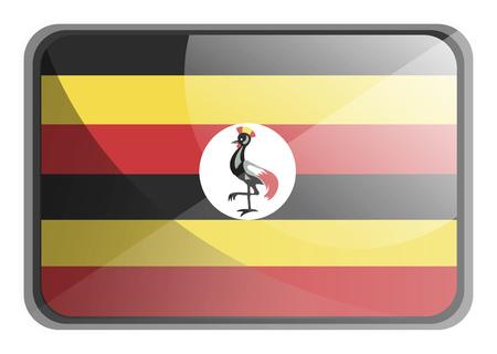 Vector illustration of Uganda flag on white background. Ilustrace