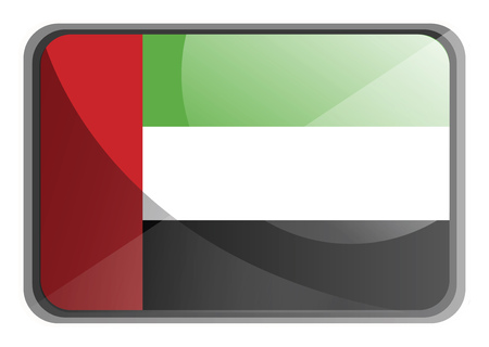 Vector illustration of United Arab Emirates flag on white background.