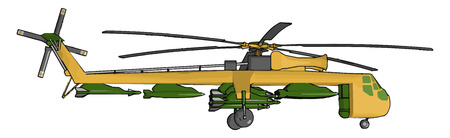 Helicopter a versatile aircraft uses include transportation of people and cargo military uses construction firefighting search and rescue tourism medical agriculture news and media and aerial observation among others vector color drawing or illustration