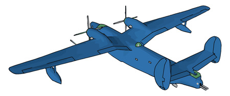 Aircraft or airplane is any machine supported for flight in the air by buoyancy or by dynamic action of air on its surfaces especially powered airplanes gliders vector color drawing or illustration Illustration