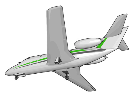 In airplane a cockpit or flight deck is the area usually near the front of an aircraft or spacecraft from which a pilot controls the aircraft vector color drawing or illustration Ilustração