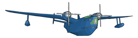 The King Air is the world most popular business turboprop aircraft It provides legendary comfort with generous head and shoulder room vector color drawing or illustration