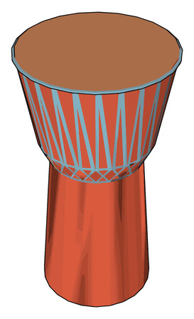 It is a djembe or jembe is a rope tuned skin-covered goblet drum played with bare hands originally from West Africa produces a wide variety of sound vector color drawing or illustration