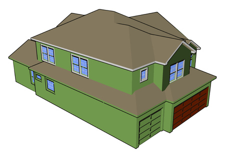 House is a shelter to live it is the basic necessity of human being It is required by every class such as poor rich or middle class vector color drawing or illustration Иллюстрация