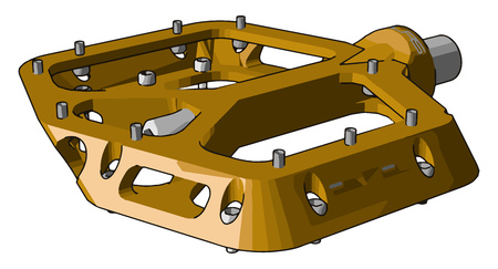 A fiber paddle supported by steel or metal It fits to gear of cycle or manual operated machine It is small but important parts vector color drawing or illustration