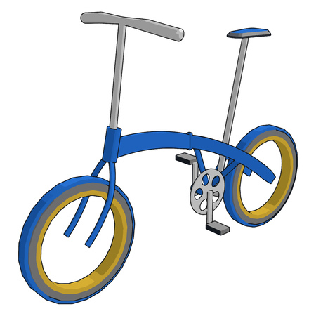 Simple modern cycle for local small distance travel and exercise Pollution free cost effective and ecofriendly vector color drawing or illustration Ilustração