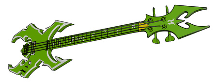 It is an instrument called guitar created or adopted to make musical sounds It has four string and slightly smaller than normal guitar vector color drawing or illustration