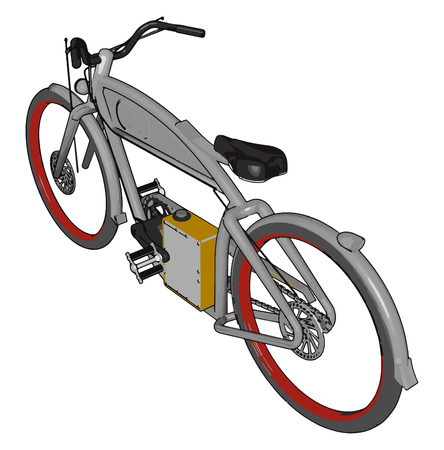 Riding cycle is a good way to control or reduce weight as it raises your metabolic rate builds muscle and burns body fat vector color drawing or illustration Ilustração