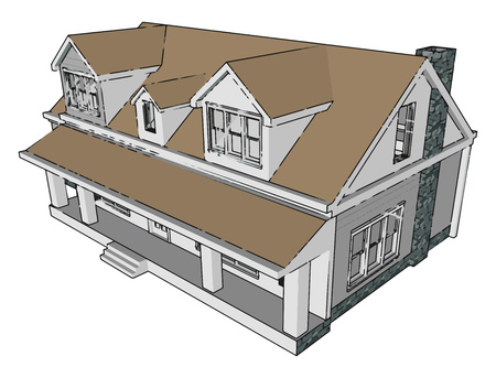 House is a shelter to live alone or with family it is the basic necessity next to food and cloth of human being It is required by every class such as poor rich or middle class vector color drawing or illustration