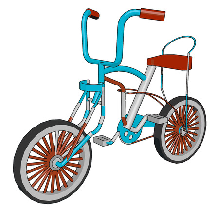 In a cycle a small triangular seat attached to the bicycle frame Spoke is a thin metal spindle connecting the hub to the rim hub is a central part of the wheel vector color drawing or illustration