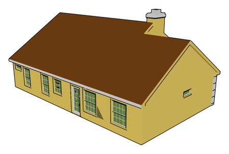 Fire places are a common feature in modern day homes even in warm climates This type of chimney house are mainly found in cold places vector color drawing or illustration