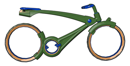 The main parts of a bicycle are wheels frame seat handlebars The bicycle weight is the key to its speed Its wheel is made up of rim spokes tube tire and hub vector color drawing or illustration