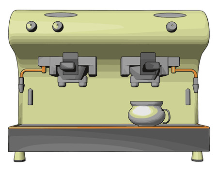 A non-alcoholic drink vending machine having proper switch for taking beverages such as tea coffee etc people feel refresh after consuming it in a busy schedule vector color drawing or illustration
