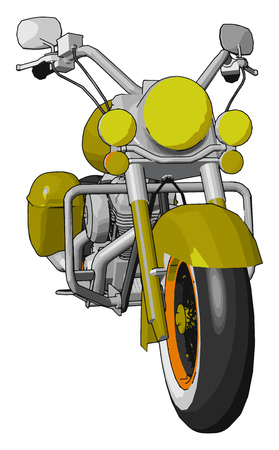 Motorbike can accelerated more quickly but it makes it not safe as car bikes do not have protecting chassis vector color drawing or illustration