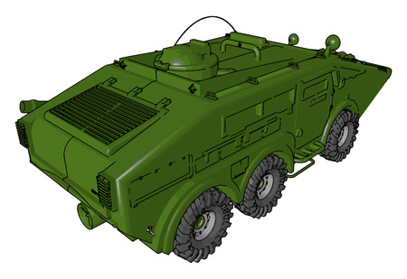 Vehicle used by army security forces or military It is very strong and can not damaged by bomb also vector color drawing or illustration 向量圖像