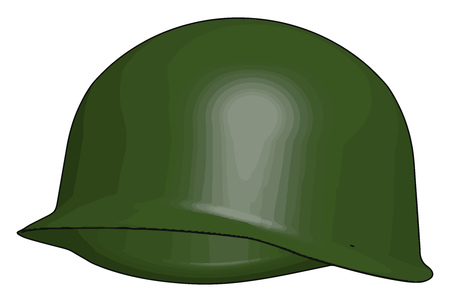 Special combat ballistic helmet have protection from bullet and shock during attack vector color drawing or illustration
