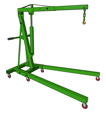 Simple metal equipment designed to carry load from one place to other It is made up of metal vector color drawing or illustration