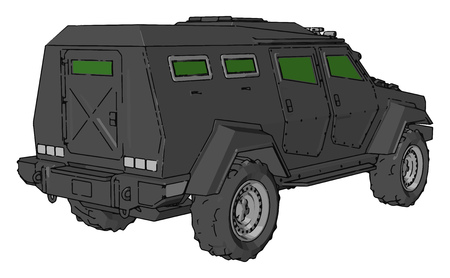 A different four wheeler like vehicle used for unarmored purpose vector color drawing or illustration Illustration