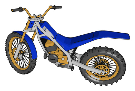 It can be used for race adventure long distance travel commuting cruising sport street or off-road riding vector color drawing or illustration Imagens - 120989170