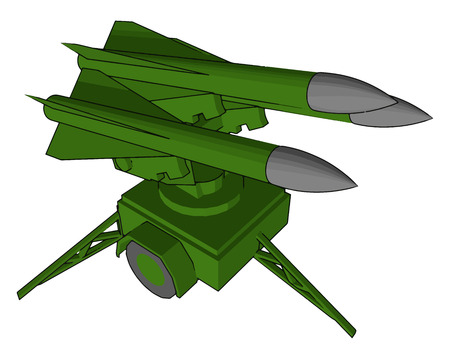 The military uses missiles as one of its favourite weapons because it can attack up to long distance vector color drawing or illustration
