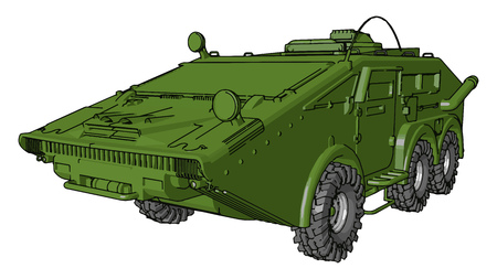It is a powerful car or vehicle looks like a tank It protect army form bullet or bomb vector color drawing or illustration