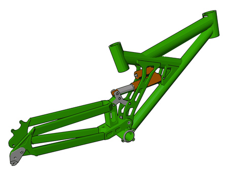 It is a part of tractor help in jointing other implement to tractor vector color drawing or illustration Ilustração