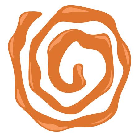 Orange Spirale traditionelle indische Süßigkeit namens Jalebi Vektorfarbzeichnung oder Illustration Vektorgrafik