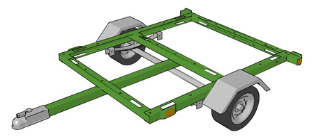 It is commonly used for the transport of goods and materials by attaching with other vehicle vector color drawing or illustration 向量圖像