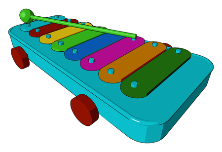 It is similar to xylophone used in a marching or military band vector color drawing or illustration Ilustrace