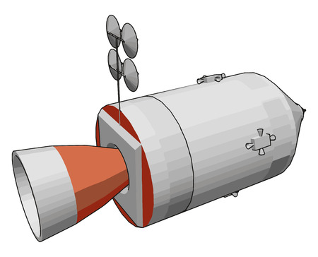 It is used for earth observation navigation transportation meteorology exploration etc vector color drawing or illustration