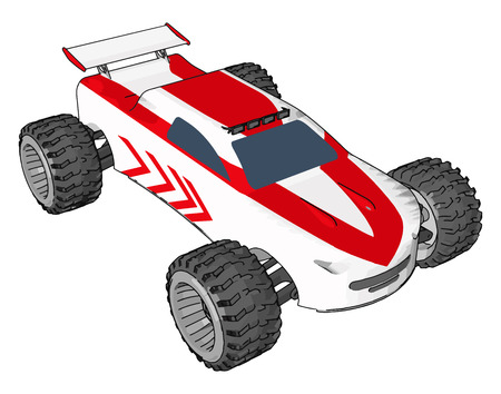 The toy cars are generally made up of plastic die-cast metal resin or even wood vector color drawing or illustration