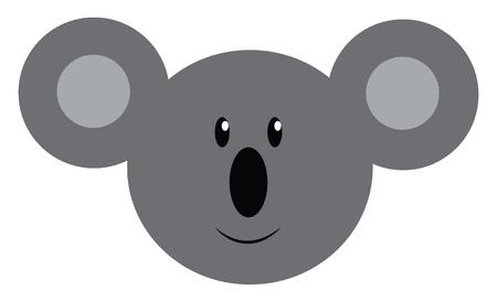 Face of a cuddly koala animal with big ears vector color drawing or illustration Ilustração