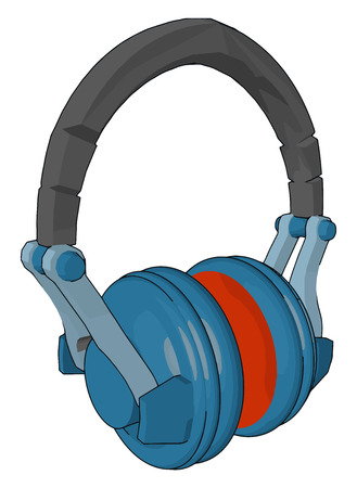 Head phone is electric device used for listening music and sound from mobile or laptop It provide clear and good sound quality vector color drawing or illustration Illustration