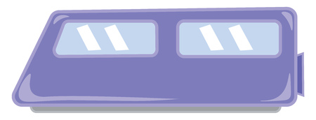 A blue fast moving environment friendly mode transportation electric train vector color drawing or illustration